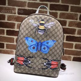 Gucci Butterfly Print GG Supreme Backpack 419584