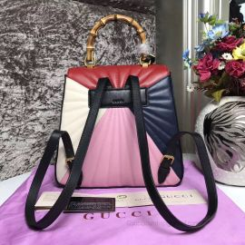 Gucci Queen Margaret Quilted Leather Backpack Four Colours 476664