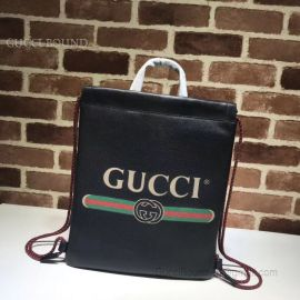 Gucci Gucci Print Small Drawstring Backpack Black 523586