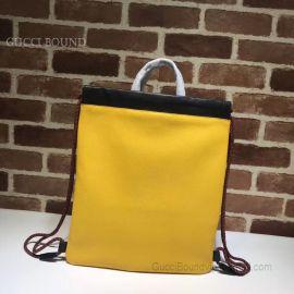 Gucci Gucci Print Small Drawstring Backpack Yellow 523586
