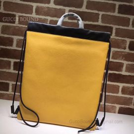 Gucci Coco Capitan Logo Backpack Yellow 494053