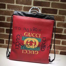 Gucci Coco Capitan Logo Backpack Red 494053