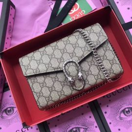 Gucci Dionysus Leather Mini Chain Bag Black 401231