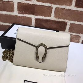 Gucci Dionysus Leather Mini Chain Bag White 401231