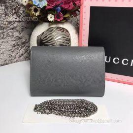 Gucci Dionysus Leather Mini Chain Bag Gray 401231
