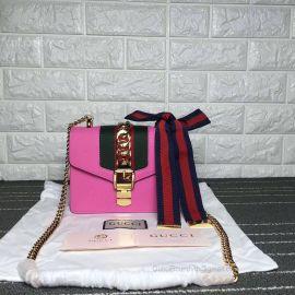 Gucci Sylvie Leather Mini Chain Bag Light Violet 431666