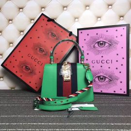 Gucci Sylvie Leather Mini Bag Green 470270