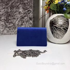 Gucci Dionysus Velvet Super Mini Bag Blue 476432
