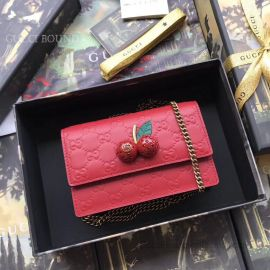 Gucci Signature Mini Bag With Cherries Red 481291