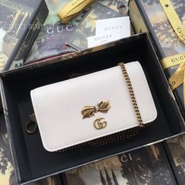 Gucci Chain Shoulder Bag With Bow White 524293
