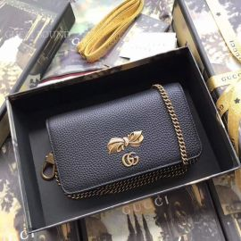 Gucci Chain Shoulder Bag With Bow Black 524293