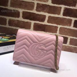 Gucci GG Marmont Matelasse Mini Bag Pink 474575