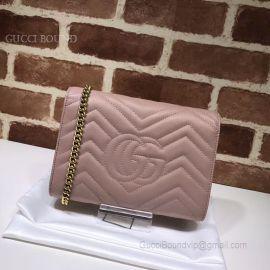 Gucci GG Marmont Matelasse Mini Bag Nude 474575