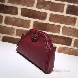 Gucci Top Original Real Leather Women Purse Hand Bag Red 517735