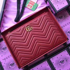 Gucci GG Marmont Matelasse Leather Pouch Red 476440