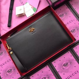 Gucci Leather Pouch Bee 495066