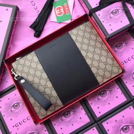 Gucci Leather Black Pouch 495066