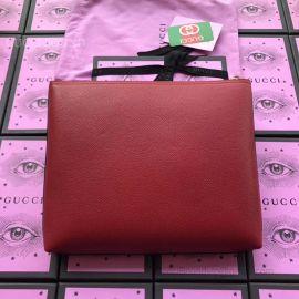 Gucci Print Leather Medium Portfolio Wine 500981