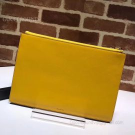 Gucci GG Supreme Pouch With Bosco Patch Yellow 506280