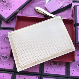 Guccy Leather Pouch White 510489