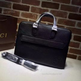 Gucci Leather Briefcase Black Bag 322057