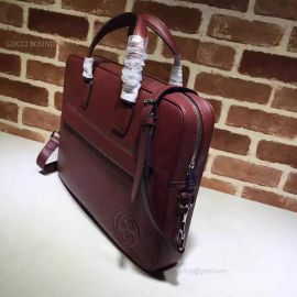Gucci Leather Briefcase Bag Wine 322057