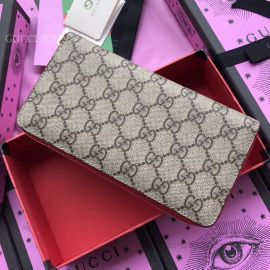 Gucci Rainbow Soft GG Supreme Zip Around Wallet Red 476413