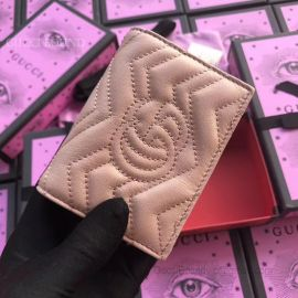 Gucci GG Marmont Card Case Pink 466492