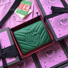 Gucci GG Marmont Matelasse Wallet Green 474802