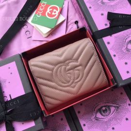Gucci GG Marmont Matelasse Wallet Pink 474802