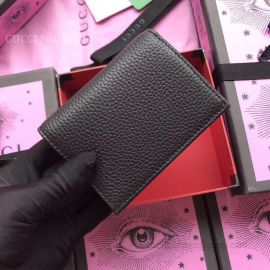 Gucci Garden Butterfly Print Calfskin Card Case Black 516938