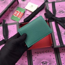 Gucci Garden Bat Print Calfskin Card Case Green 516938