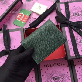 Gucci Garden Bat Print Calfskin Card Case Dark Green 516938