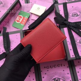 Gucci Garden Bat Print Calfskin Card Case Red 516938