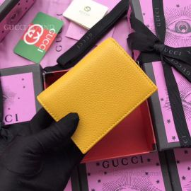 Gucci Garden Butterfly Print Calfskin Card Case Yellow 516938