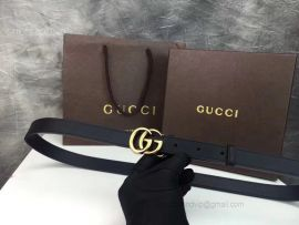 Gucci Leather Belt With Double G Buckle Black 20mm