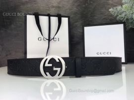 Gucci Gucci Signature Leather Belt Black 35mm