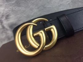 Gucci Leather Belt With Double G Buckle Black 30mm