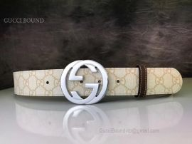 Gucci GG Supreme Belt With G Buckle Light Pink 40mm
