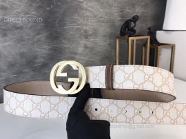 Gucci GG Supreme Light Pink Belt With G Buckle 40mm