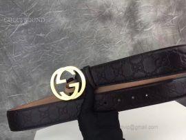 Gucci Black Signature Leather Belt 40mm