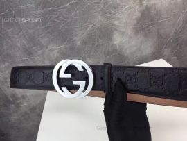 Gucci Signature Black Leather Belt 40mm