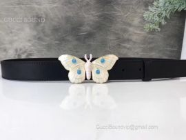 Gucci Belt Whit Butterfly Black 20mm