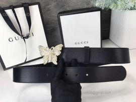 Gucci Leather Belt With Butterfly Black 38mm