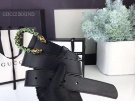 Gucci Black Leather Belt With Crystal Dionysus Buckle 30mm