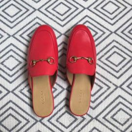 Gucci Princetown Leather Slipper Red