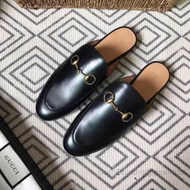 Gucci Princetown Leather Black Slipper