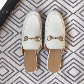 Gucci Princetown Leather Slipper White