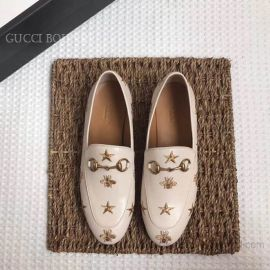 Gucci Jordaan Embroidered Leather Loafer White