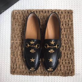 Gucci Jordaan Embroidered Leather Loafer Black